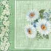 Клеёнка столовая на т/о Колорит 101/3 зеленый