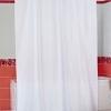 Штора для ванной комнаты т.м. Miranda Castafiore DOBBY CHECK,белая.100% полиэстер