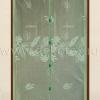 TH-02 Штора антимоскитная на дверь на магнитах (зелёная, вышивка листья) 100*210 см