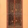 XH-01 Штора антимоскитная на дверь на магнитах (коричневая, вышивка узор) 100*210 см