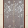 TH-01 Штора антимоскитная на дверь на магнитах (бежевая, вышивка цветы) 100*210 см