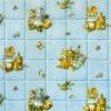 Клеёнка столовая на т/о Колорит 419/1 голубой