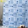 Штора для ванной комнаты т.м. Miranda ROSE BUD голубой