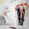 Штора в ванную комнату из 100% полиэстера без колец Tropikhome 180х200см ELEPHANT