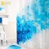 Штора в ванную комнату из 100% полиэстера без колец Tropikhome 180х200см BLUE SQUARES